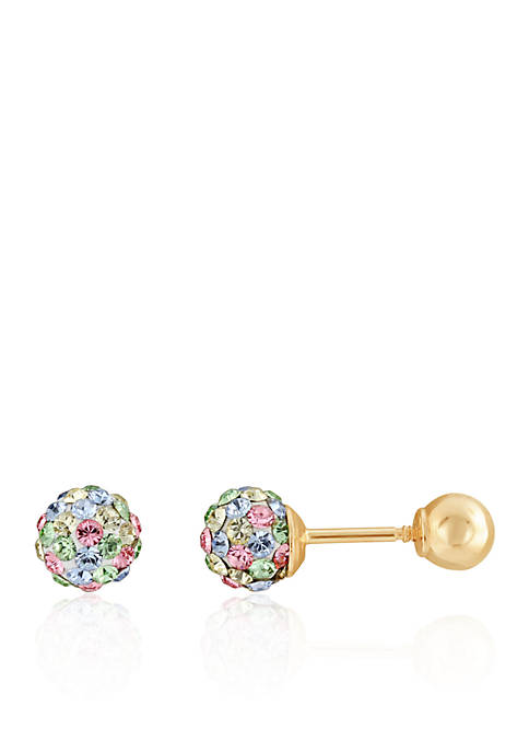 Belk & Co. Multi-Color Crystal Baby Studs in