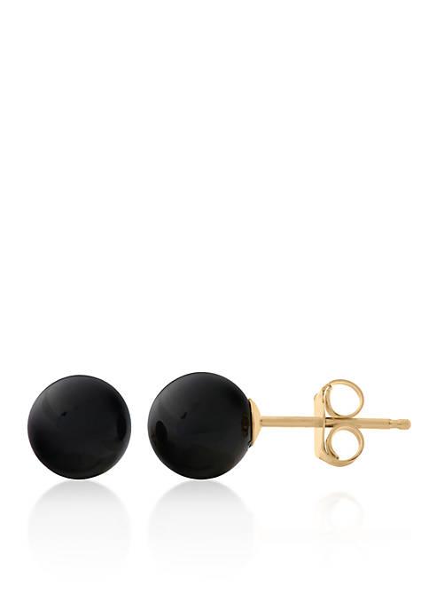 Belk & Co. Onyx Earrings in 14k Yellow