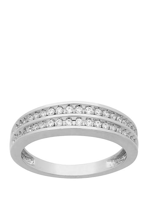 My Forever 1/4 ct. t.w. Diamond Wedding Band in Sterling Silver