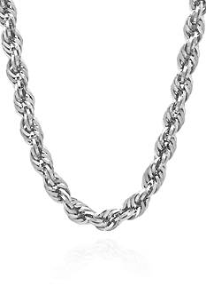 Belk & Co. Sterling Silver 5.6-MM Glitter Rope Necklace