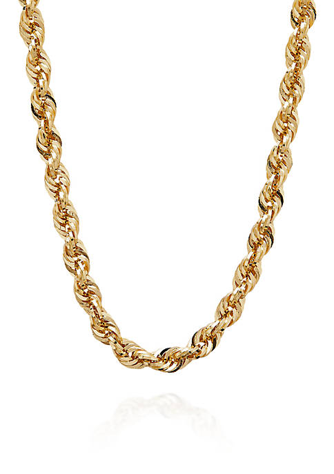 Belk & Co. 10k Yellow Gold Rope Chain