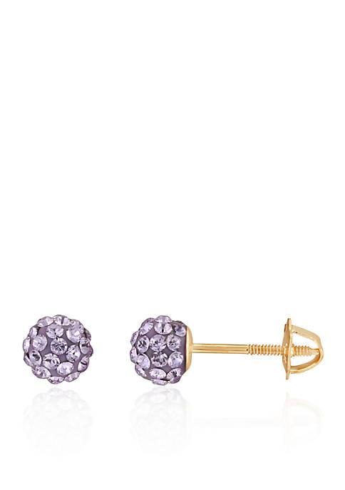 Belk & Co. Purple Crystal Baby Stud Earrings