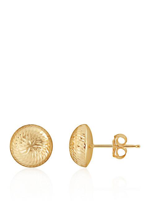 Belk & Co. Button Earrings in 14K Yellow