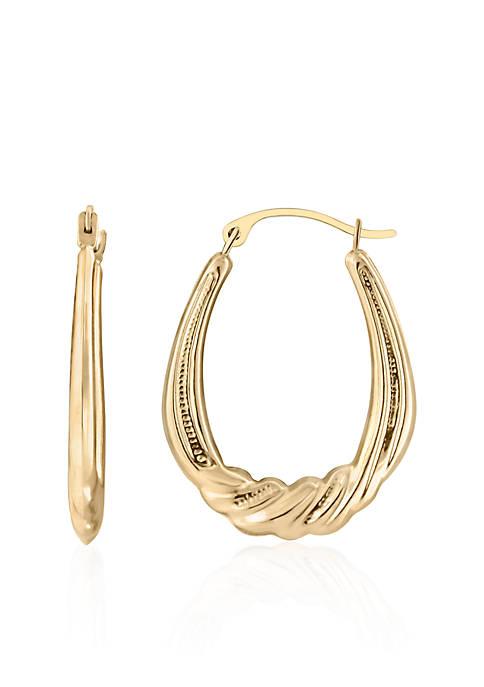 Belk & Co. Oval Twist Hoop Earrings in
