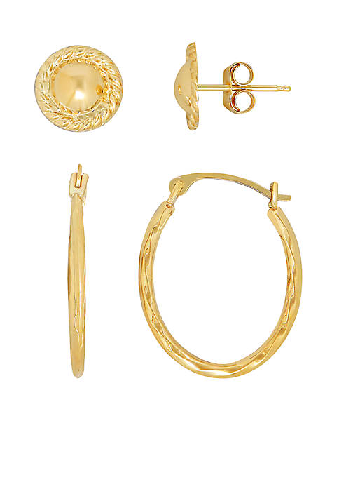 Belk & Co. 14k Yellow Gold Earrings Set