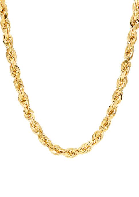 Belk & Co. 6.5 Millimeter Solid Glitter Chain