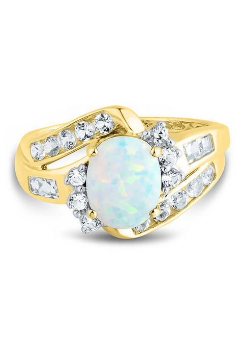 Belk & Co. Lab Created Opal and Lab