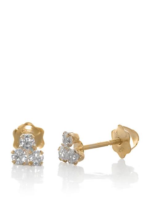 Belk & Co. Cubic Zirconia Baby Stud Earrings