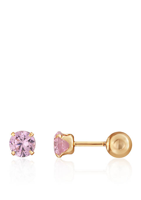 Belk & Co. Cubic Zirconia Baby Stud Earrings