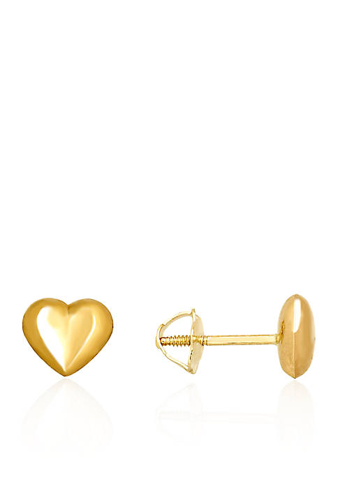 Belk & Co. Baby Puff Heart Stud Earrings