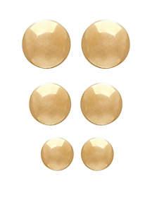 Ball Set Stud Earrings in 14k Yellow Gold