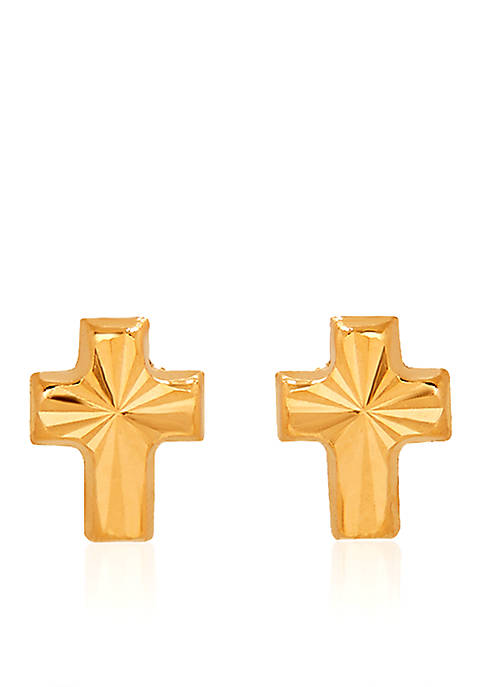 Belk & Co. 14k Yellow Gold Baby Cross