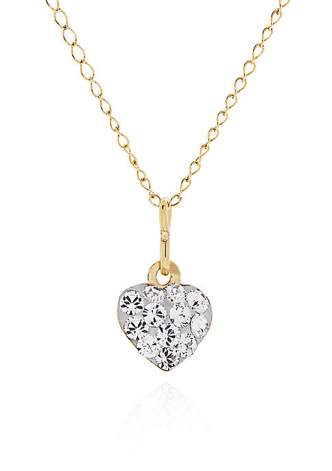 Belk & Co. Baby White Crystal Heart Pendant