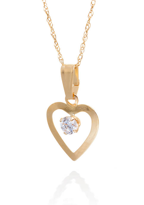 Belk & Co. Cubic Zirconia Pendant Necklace in