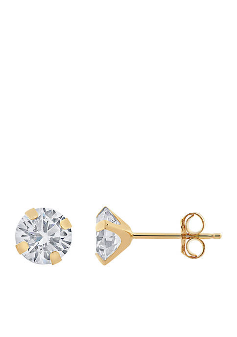 Belk & Co. Created White Sapphire Earrings in