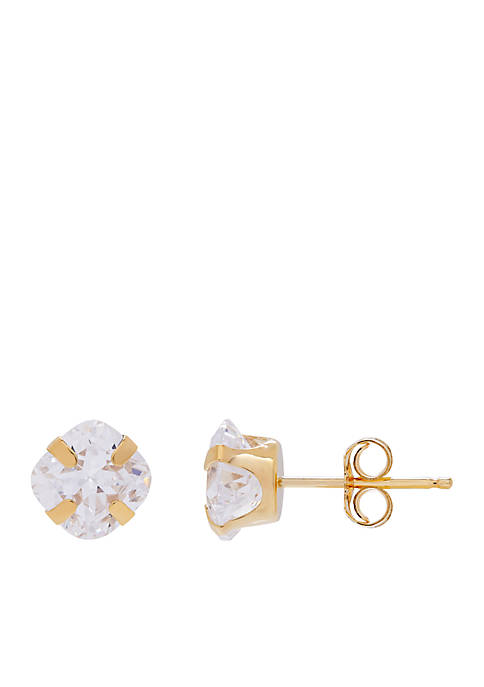 Belk & Co. Created White Sapphire Cushion Earrings
