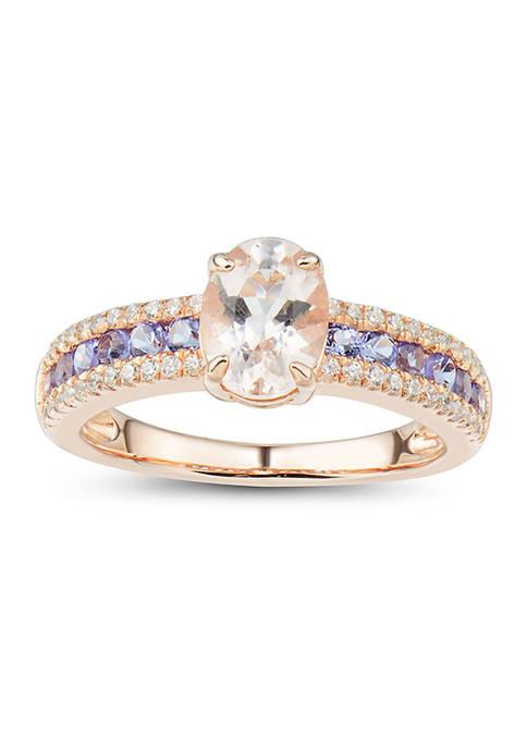 Belk & Co. 1/5 ct. t.w. Diamond, Morganite,