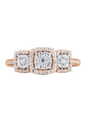 Belk Co. Women 1 3 Ct. T.W. Diamond Engagement Ring In 10K Rose Gold