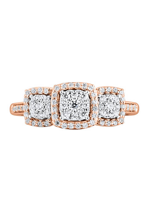 1/3 ct. t.w. Diamond Engagement Ring in 10K Rose Gold