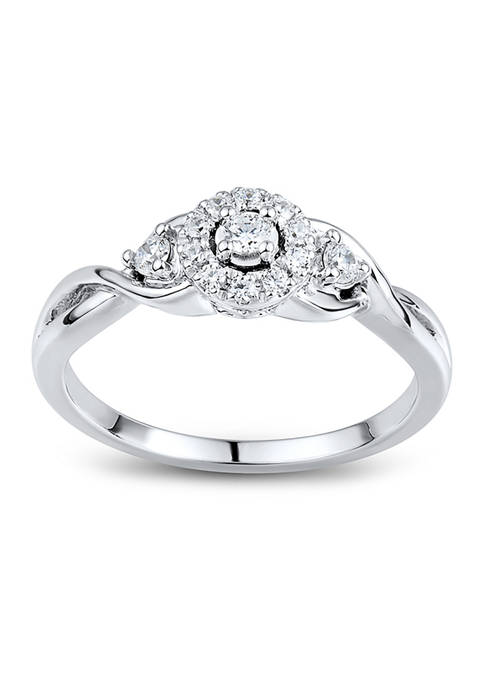 1/5 ct. t.w. Diamond Engagement Ring in 10K White Gold