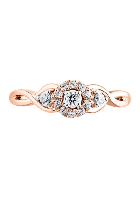 1/5 ct. t.w. Diamond Engagement Ring in 10K Rose Gold