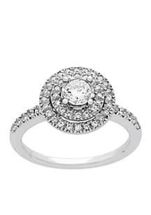 10K White Gold  1/2 c.t. t.w. Diamond Engagement Ring