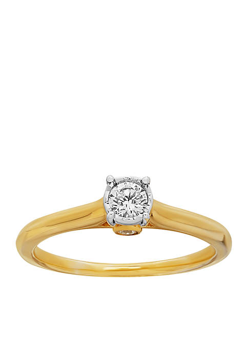 My Forever 1/4 c.t. t.w. Diamond Engagement Ring in 10k Yellow Gold