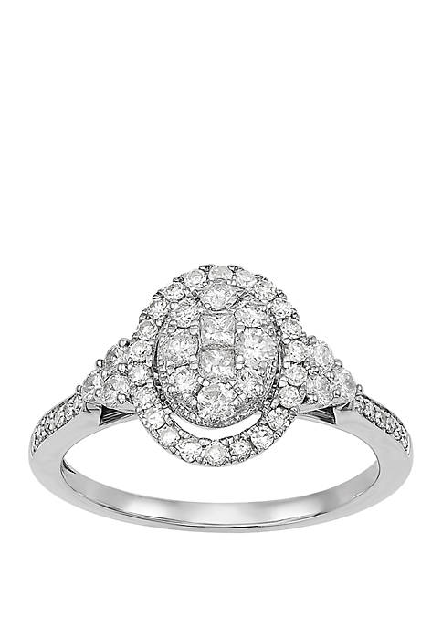 My Forever 3/4 ct. t.w. Diamond Composite Engagement Ring in 10k White Gold
