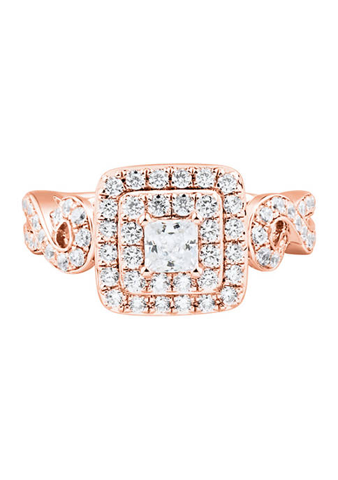 1.25 ct. t.w. Diamond Engagement Ring in 14K Rose Gold