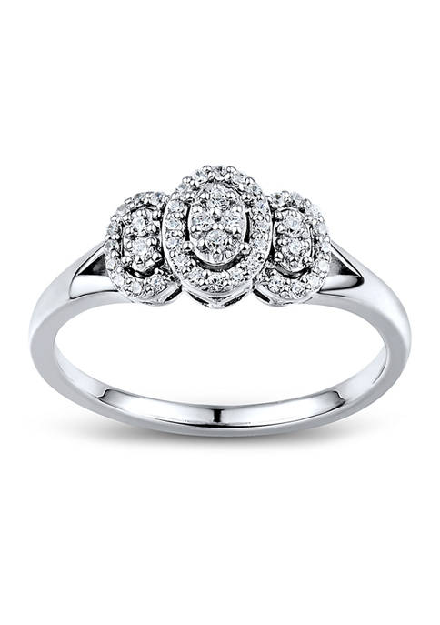 1/6 ct. t.w. Diamond Engagement Ring in Sterling Silver