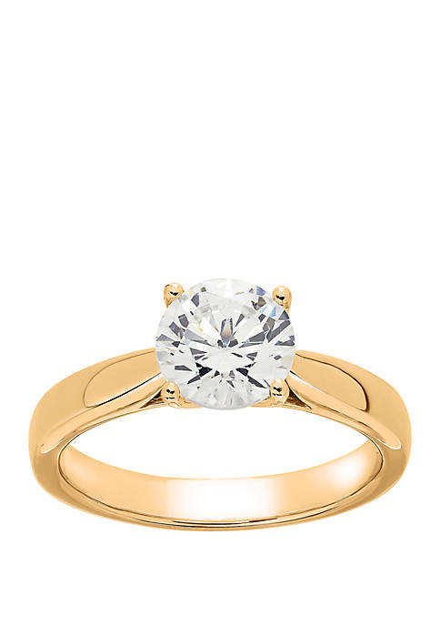 Grown With Love 1 1/2 ct. t.w. Lab Grown Diamond Solitaire Ring in 14K Yellow Gold