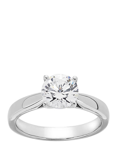 Grown With Love 1 1/2 ct. t.w. Lab Grown Diamond Solitaire Ring in 14K White Gold