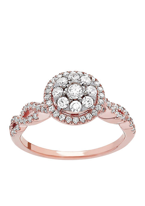 My Forever 1/2 c.t. t.w. Diamond Composite Engagement Ring in 10k Rose Gold
