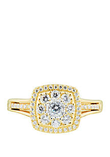 1/2 ct. t.w. Diamond Composite Ring in 10k Yellow Gold