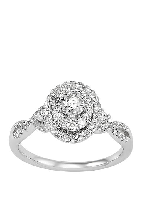 My Forever 1/2 ct. t.w. Diamond Engagement Ring in 10k White Gold