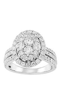 Belk & Co. 2 ct. t.w. Oval Halo Diamond Bridal Ring in 10k White Gold