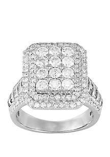 2 ct. t.w. Diamond Bridal Square Ring in 10k White Gold