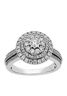 Belk & Co. Diamond Engagement Ring in 10K White Gold