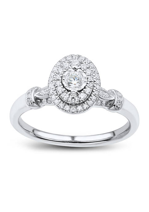 1/3 ct. t.w. Diamond Engagement Ring in Sterling Sliver