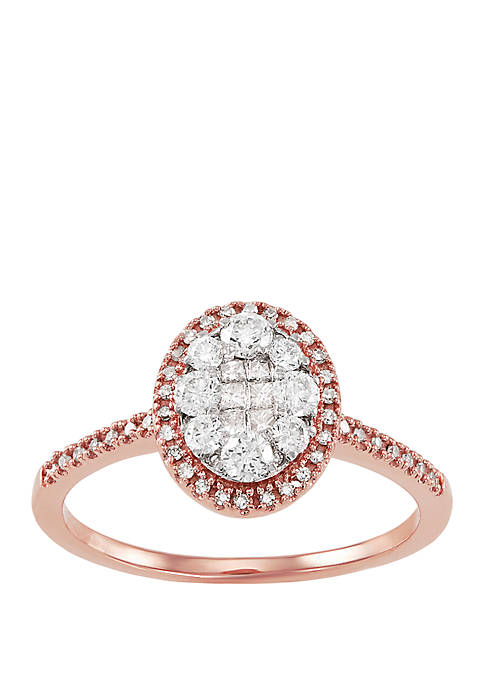 My Forever 1/2 ct. t.w. Diamond Composite Engagement Ring in 10k Rose Gold