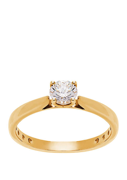 0.5 ct. t.w. Lab Grown Diamond Ring in 14K Yellow Gold