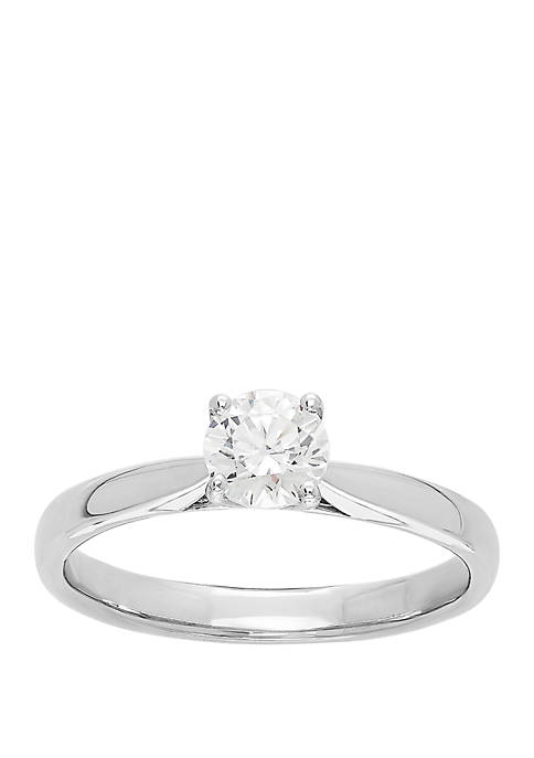 0.5 ct. t.w. Lab Grown Diamond Ring in 14K White Gold