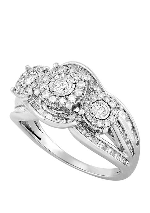 1 ct. t.w. Diamond Ring in Sterling Silver