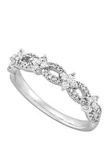 Belk & Co. 0.34 ct. t.w. Diamond Band Ring in 10k White Gold