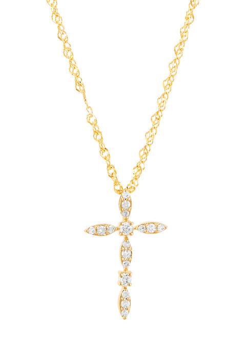 Belk & Co. 1/10 ct. t.w. Diamond Cross