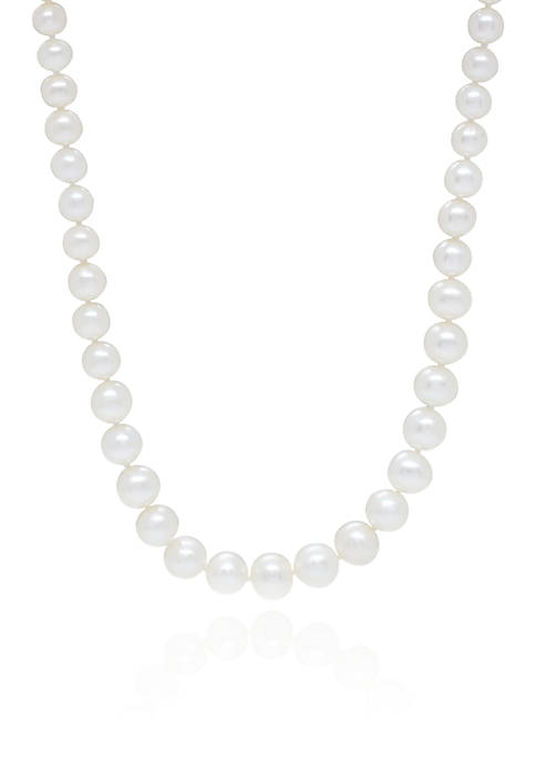 Freshwater Pearl Necklace in 14k Yellow Gold