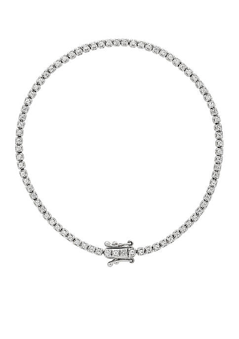 Belk & Co. 10k White Gold Diamond Bracelet
