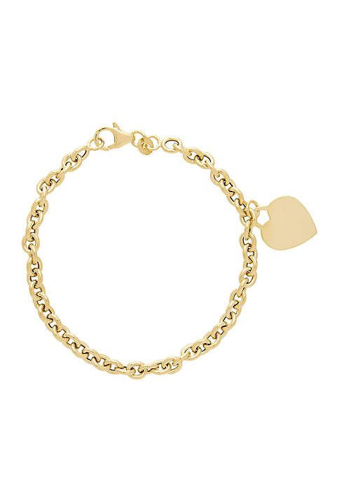 Belk & Co. Dangle Heart Charm Bracelet in