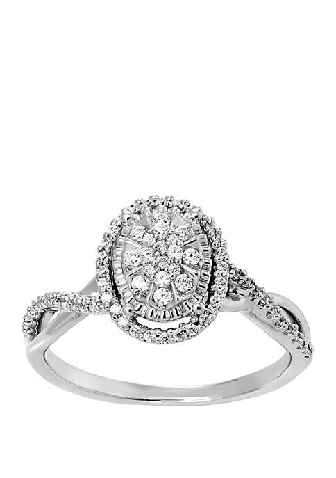 Belk & Co. 1/4 ct. t.w. Oval Diamond