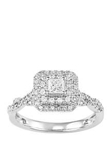 Belk & Co. 1/2 ct. t.w. Round Diamond Bridal Ring in 10k White Gold
